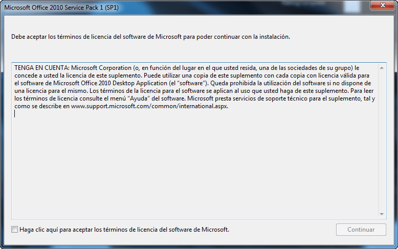 Service Pack 1 para Microsoft Office 2010