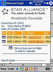 Star Alliance Timetables