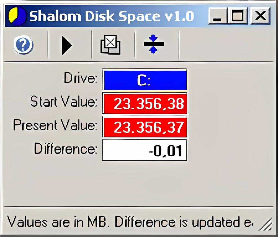 Shalom Disk Space