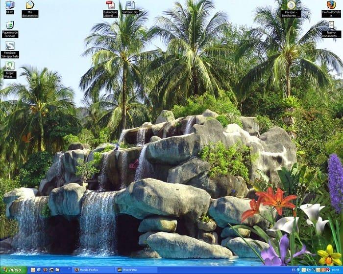 Tropic Waterfall – Animowana Tapeta