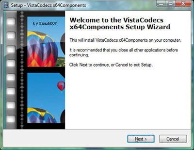 Vista Codecs x64 Components package