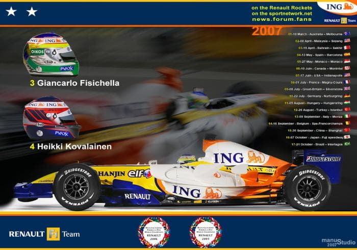 Formula 1 2007 Calendar