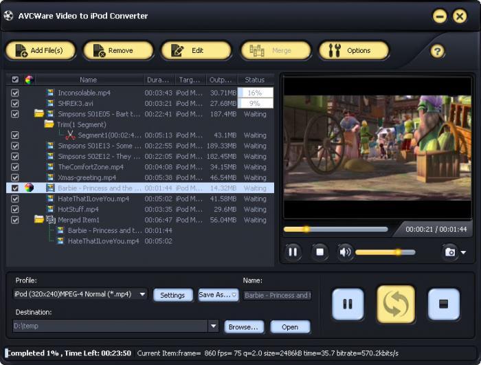 AVCWare Video to iPod Converter