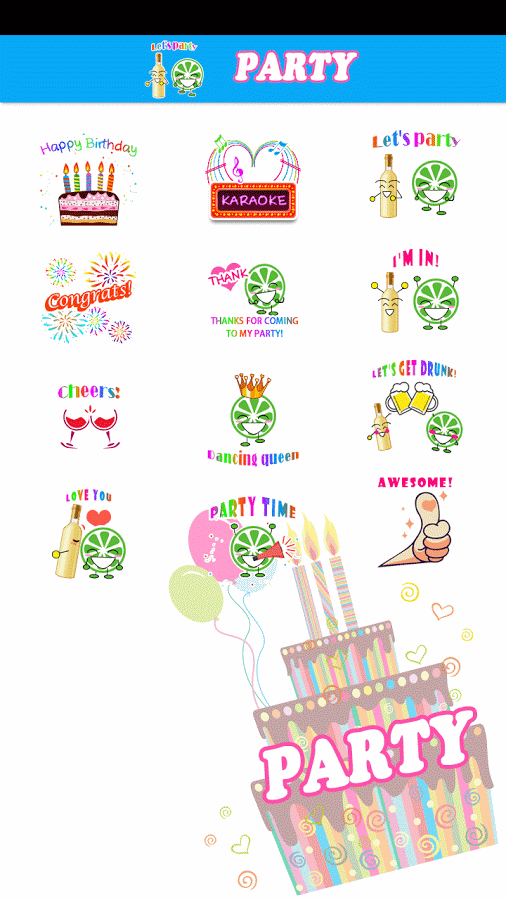 Party Sticker GIF Free