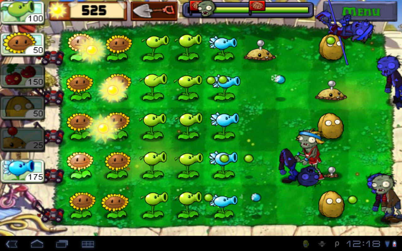 Игры серии Plants vs Zombies для Android