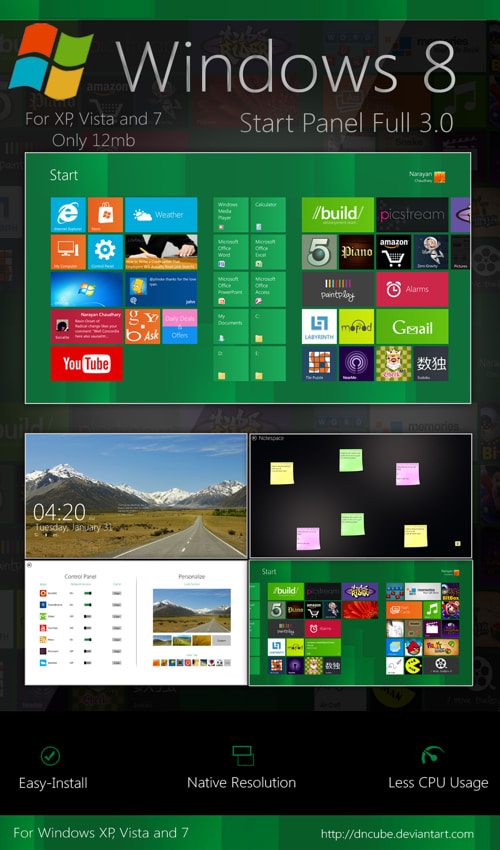 Windows 8 Start Screen Full