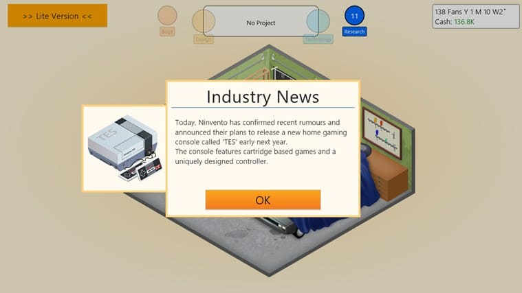Game Dev Tycoon Lite for Windows 10