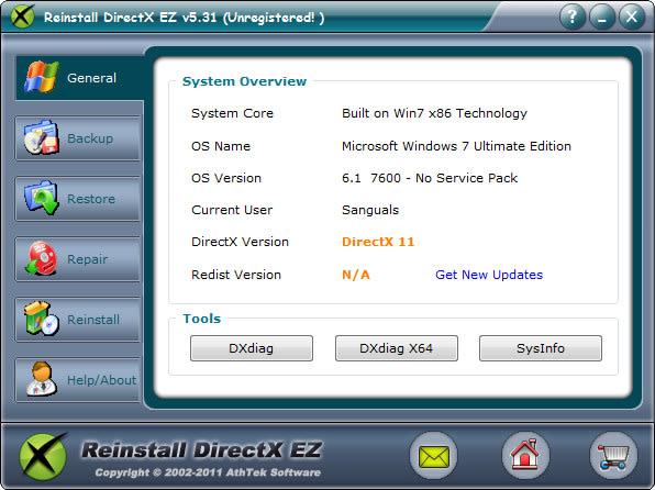 Reinstall DirectX EZ