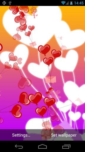 Heart Baloons Live Wallpaper