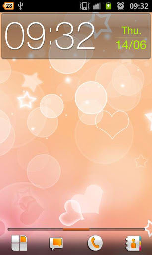 Peach Hearts Live Wallpaper