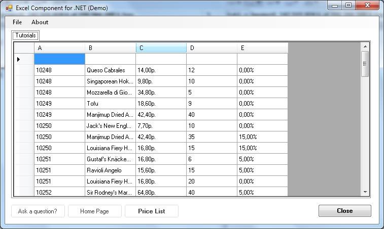 Elerium Excel .NET