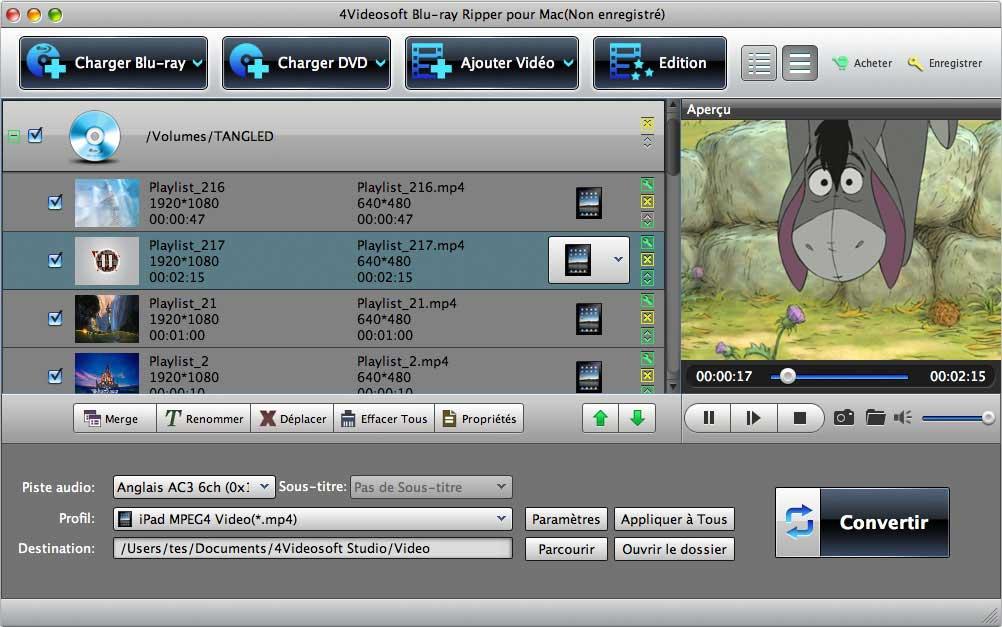 4Videosoft Blu-ray Ripper pour Mac