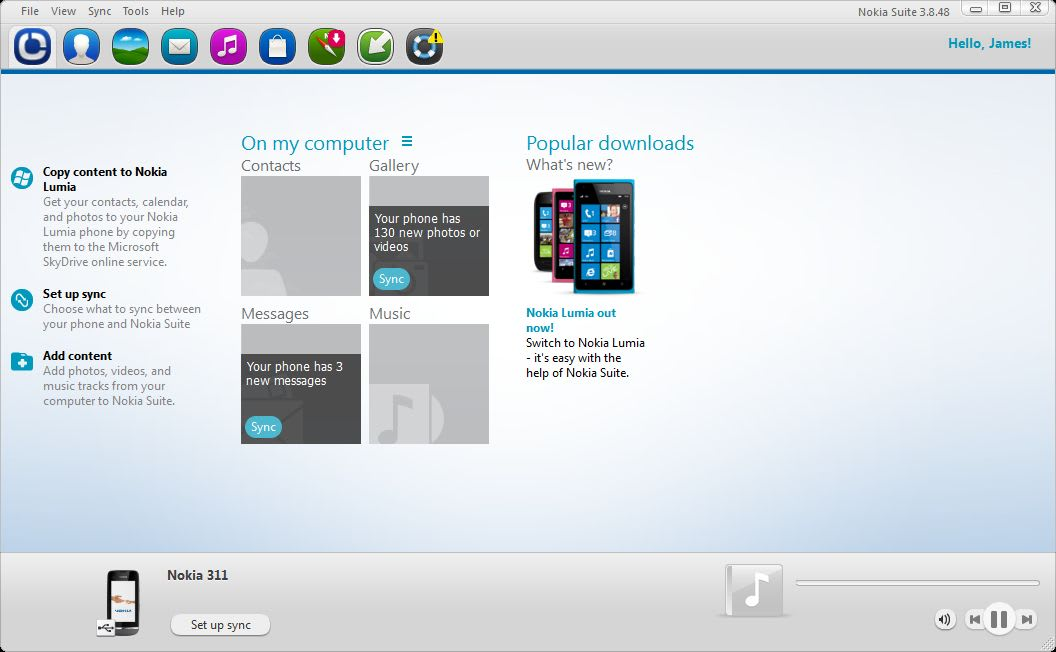 Nokia 3120c pc suite software