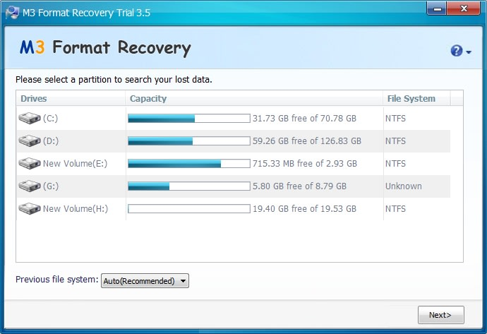 M3 Format Recovery Professional