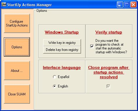 StartUp Actions Manager