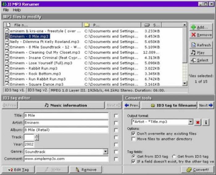 JJ MP3 Renamer