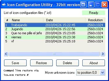 Icon Configuration Utility