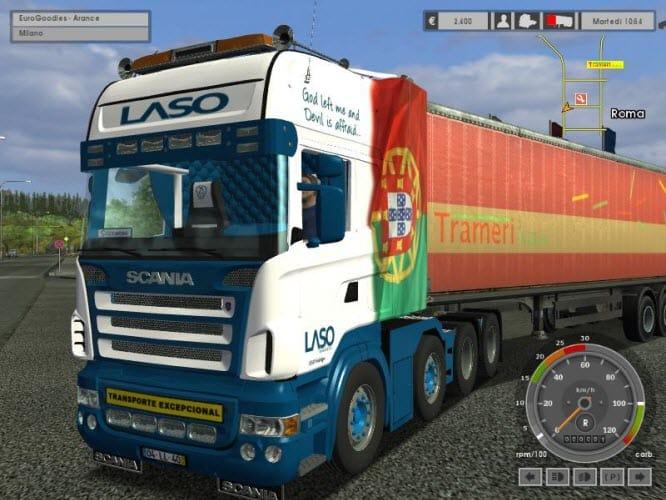 Euro Truck Simulator SCANIA R580 8X4 Mod