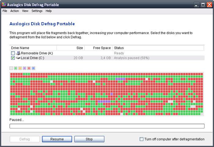 Auslogics Disk Defrag Portable