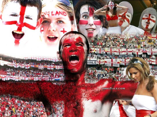 England Football Team Fans Wallpaper