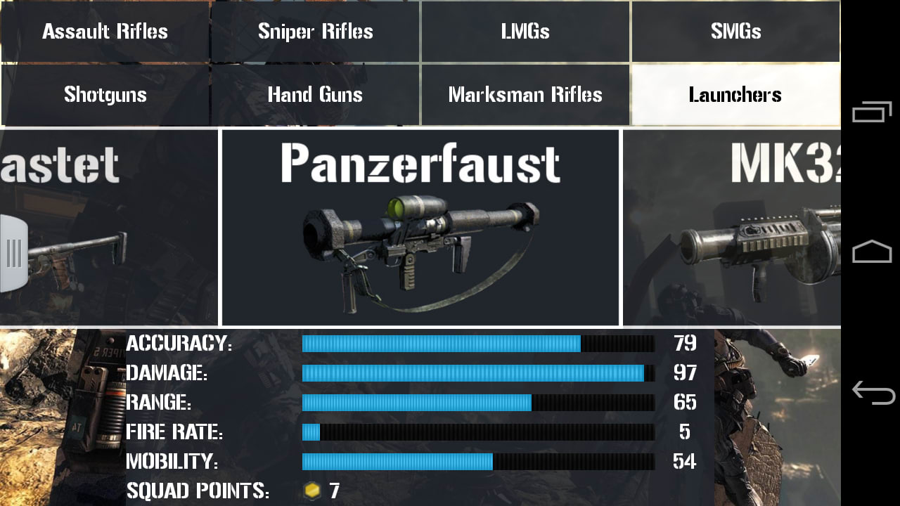 CoD Ghosts: Weapons&Customizer