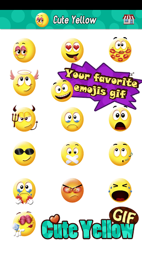 Cute Smiley Gif Emoji Sticker