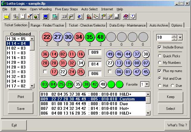 Lotto Logic Lottery Software