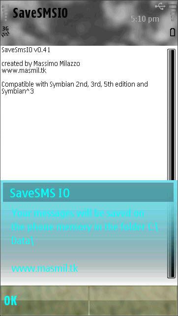 SaveSMS IO