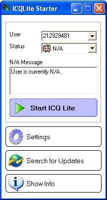 ICQ Lite Starter