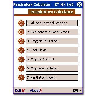 Respiratory Calculator