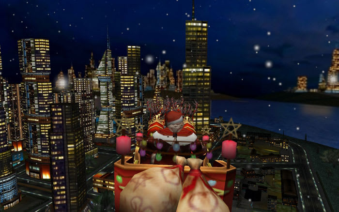 Santa and the City 3D Christmas Screen Saver