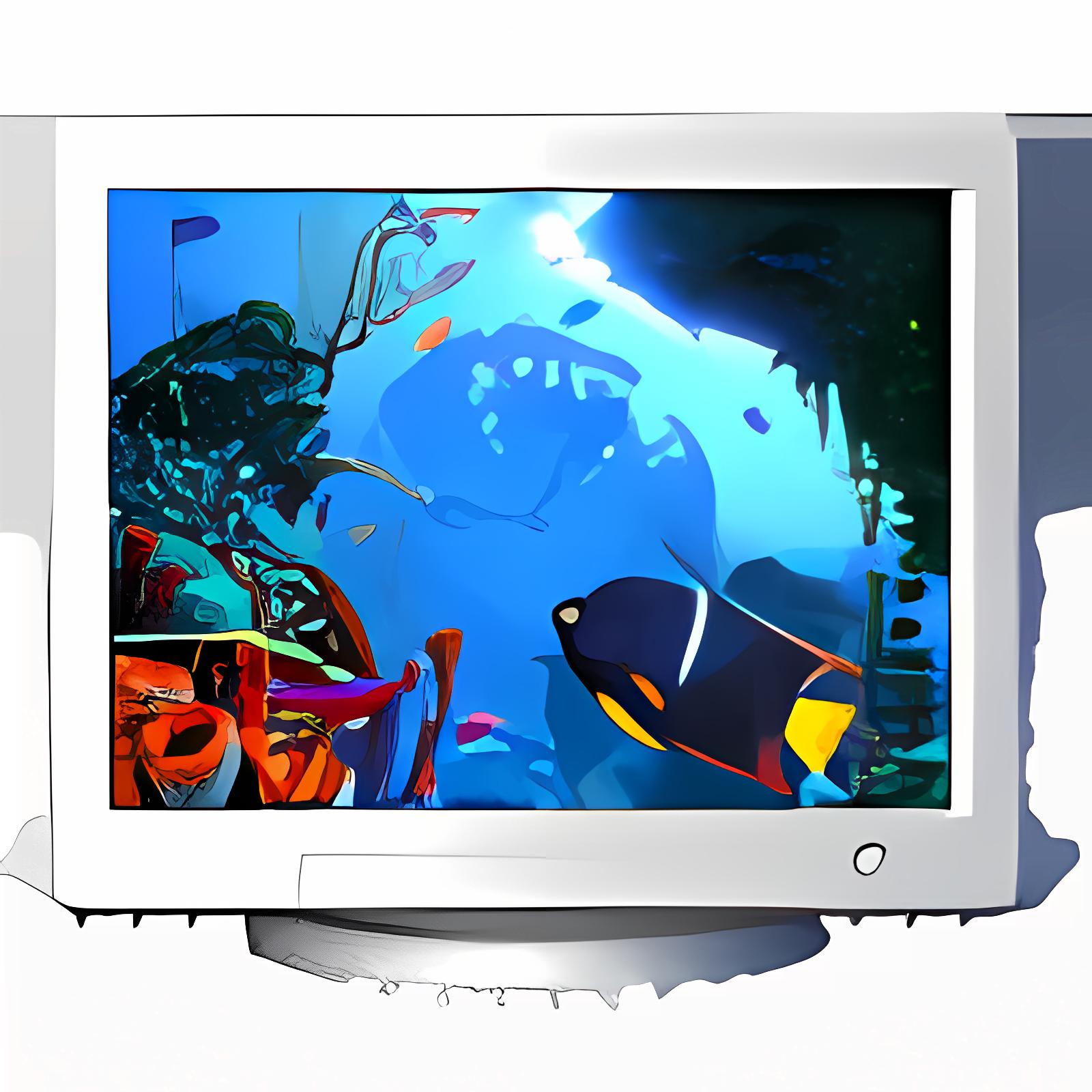 Coral Clock 3D Screensaver