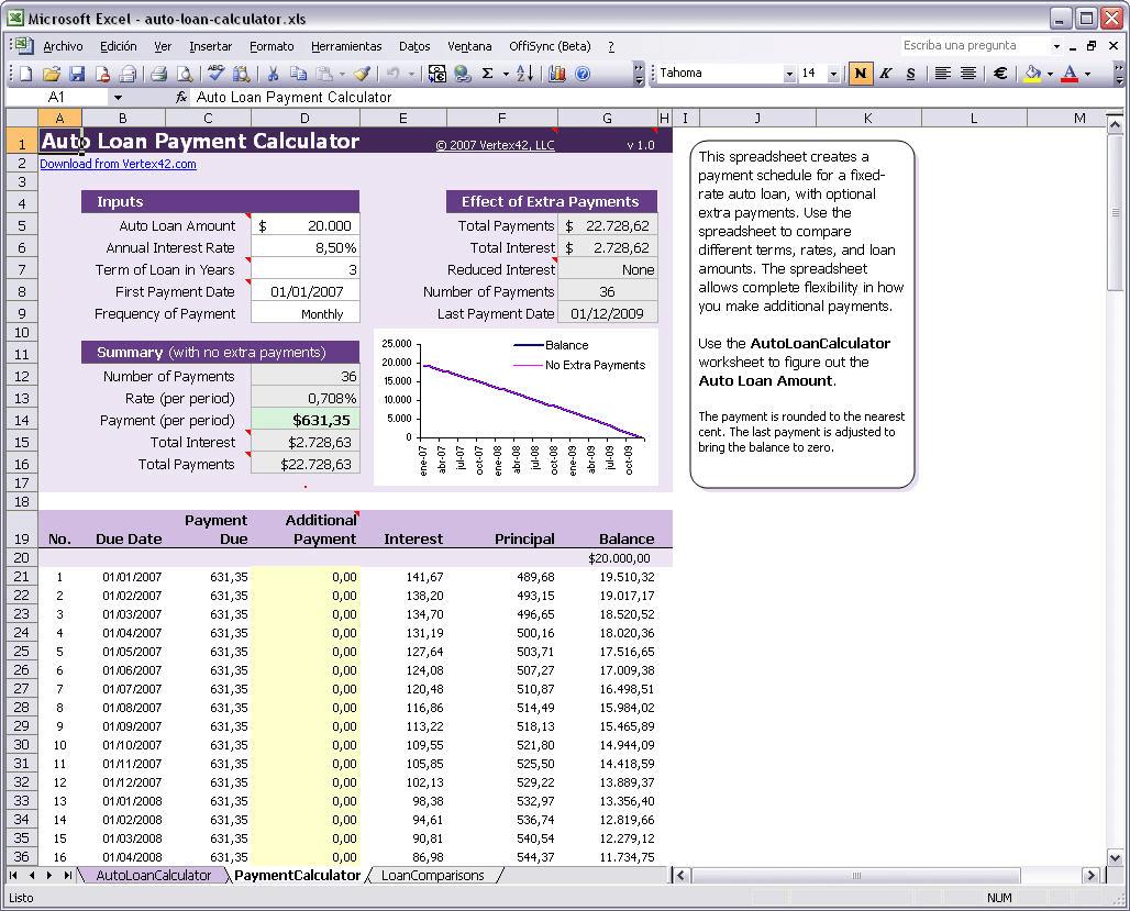 Auto Loan Calculator 1.0
