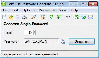 SoftFuse Password Generator