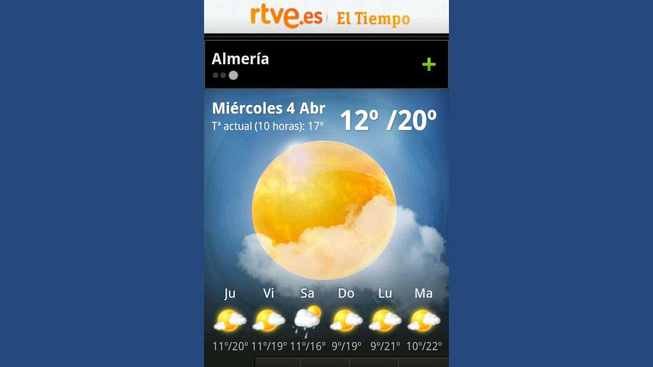 El Tiempo en RTVE.es