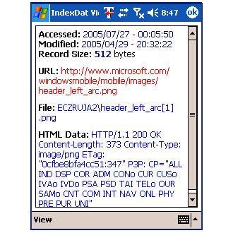 ValkSoft Index.dat Viewer