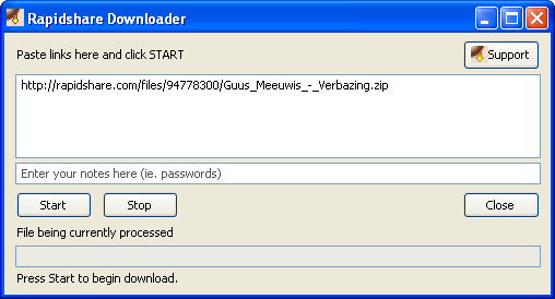 RDown Rapidshare Downloader