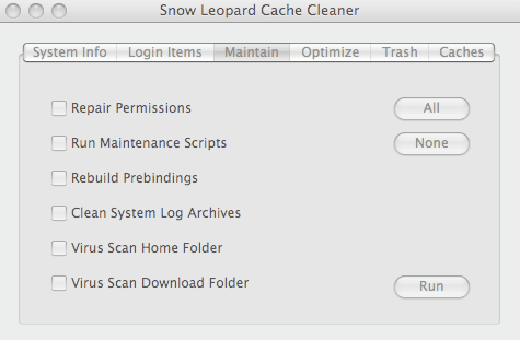 Snow Leopard Cache Cleaner