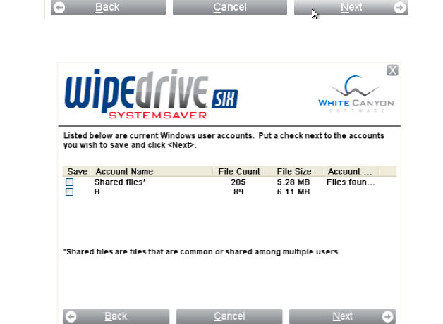 WipeDrive SystemSaver Win 64 bits