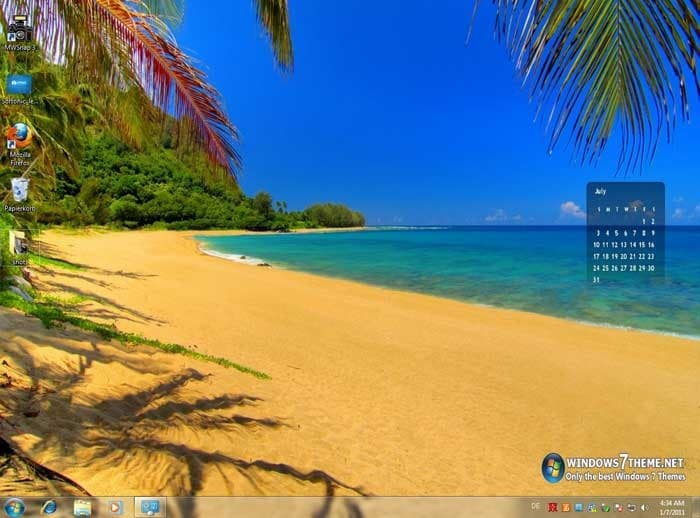 2011 Calendar Windows 7 Theme