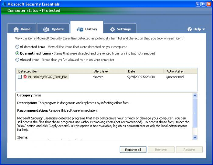 Install free antivirus from Microsoft and enable recommended ...