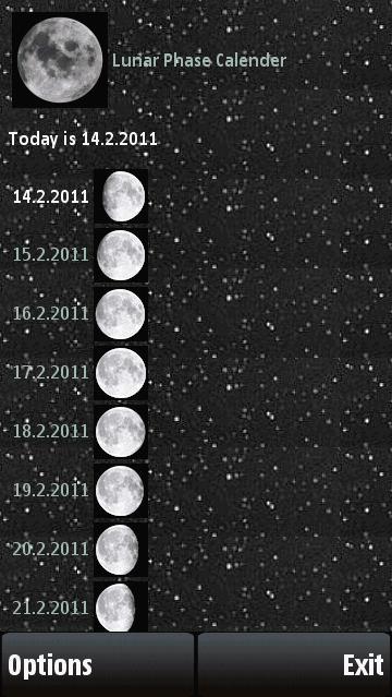 Lunar Phase Calender