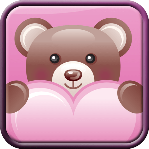 Teddy Bear Hearts Wallpaper