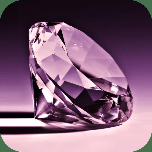 Purple Diamonds Live Wallpaper