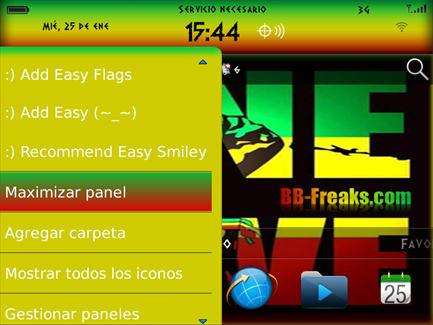Tema One Love Reggae OS7