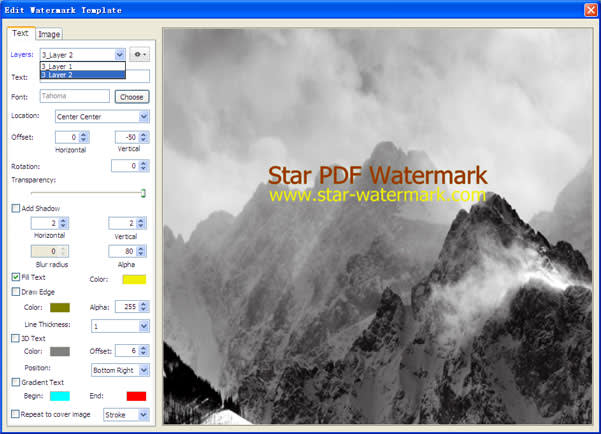 Star PDF Watermark for Windows