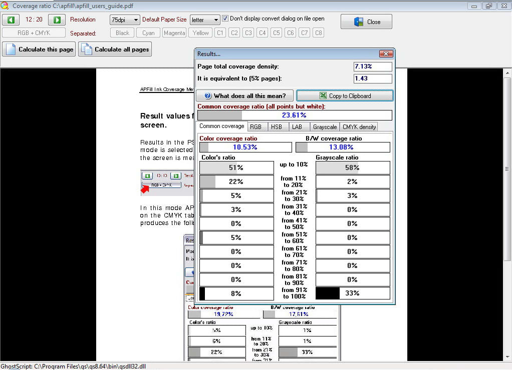 APFill - Ink and Toner Coverage Calculator