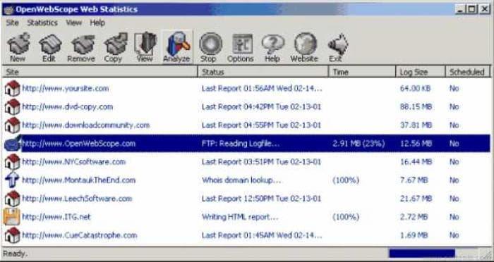 OpenWebScope Web Statistics