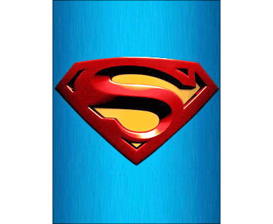 Superman Logo I Wallpaper: Stamp the famous 'S' on your mobile display