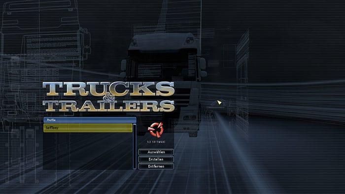 TRUCKS & TRAILERS - Pantalla de inicio